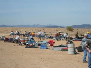 Competitors on the firing line at Ben Avery Shooting Facility