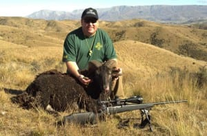 Eric with the ram he shot in New Zealand.
