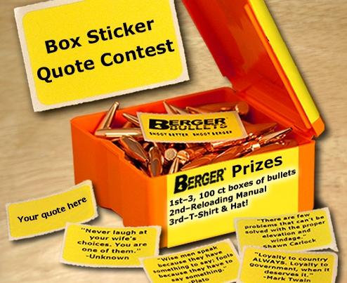 Berger Box Sticker Contest