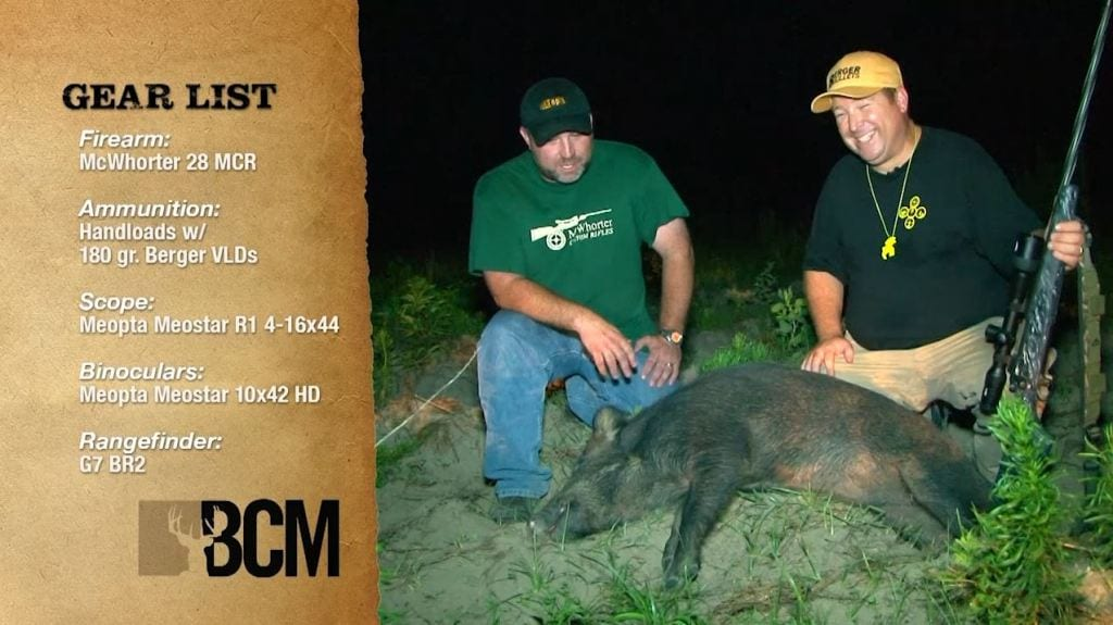Eric Stecker Hog Hunting with BCM